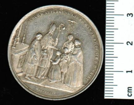 Firm-Taler um 1850: Stempelschneider: Drentwett, unbehandelt, sehr schöne Patina, i.A.