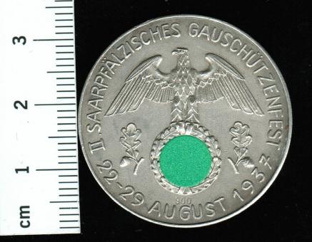 2. Saarpfälzische Gauschützfest, 13,39/800Silber