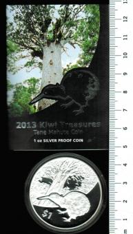 TOP-Angebote: Australien, 1 $ 2013 'KIWI', Proof in OVP, iA