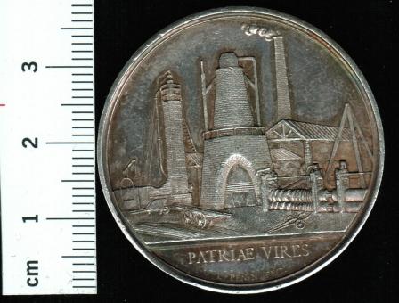 Frankreich: Hist. Medaillie: Pont Eveque / Gießerei/Schmiede, 22,61g Silber/sehr schöne Patina