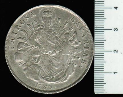 Deutschland/Bayern: Konventionstaler, 1760 (Sautaler): Patrona Bavariae / Maximilian III. Joseph