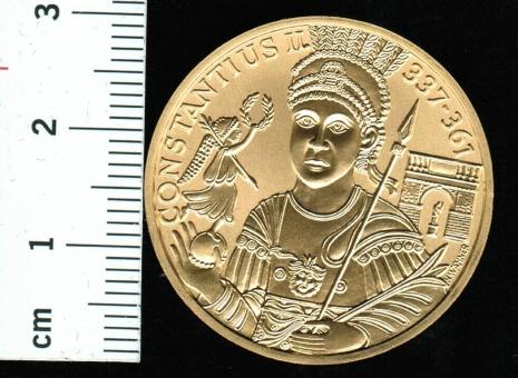 Österreich: 1.000 Schilling 2000, Constantius II./Heidentor Carnuntium, 16.04 Feingold in Dose