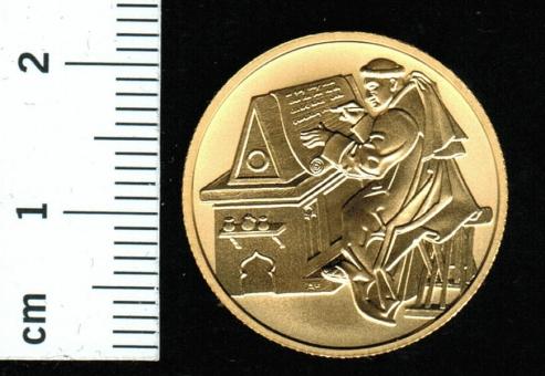 Österreich: 50 Euro, 2002: 2000 Jahre Christentum (Benedikt + Scholastika), 10.04 Feingold