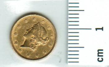 USA: 1 Dollar 1849: Philadelphia, Liberty/Wertseite 1,67g Gold