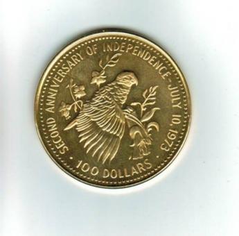 Bahamas: 100 Dollars 1975, Y*77, Weißkopf-Amazone