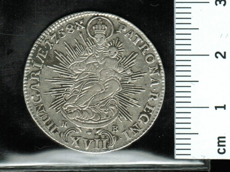 Ungarn: 17 Kreuzer, 1758 KB: Maria Tehresia/Patrona Hungariae
