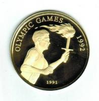 Samoa, 100 Tala, 1991, Olympiade Barcelona / Fackelläufer, 6.000 Exemplare, 7,5/900 Gold