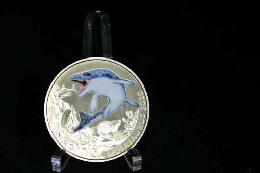 Österreich: 3 Euro 2020 'Mosa-Saurus', Kupfer-Nickel/*65.000 Exemplare, bunt ''