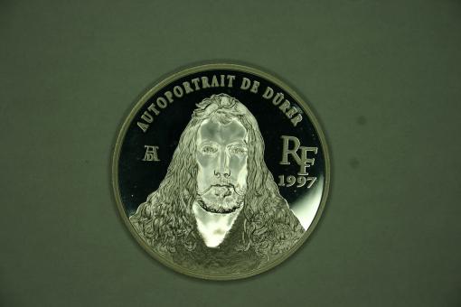 Münze Frankreich 1,5 Euro = 10 Francs 1997 (KM*1298) Portrait Albrecht Dürer ''