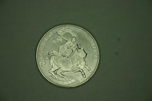 Münze Italien 10000 Lire 1995 KM+147 Wertseite mit 'E5' 40. Jahrestag der Konferenz von Messina ''