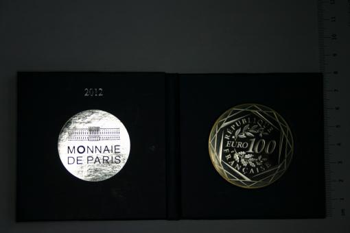 Münze Frankreich Monnaire de Paris 100 Euro 2012 Herkules-Gruppe ''