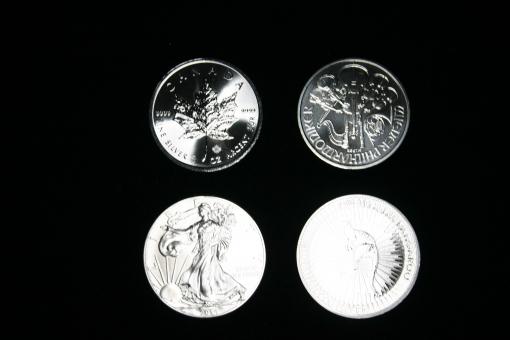 Unzen / Silber: Canada: Maple-Leaf, Österreich: Philharmonie, Australien: Känguru, USA: Walking Liberty ''