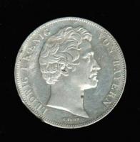 Doppeltaler 1837, Münzvereinigung Südteutscher Staaten, verprägt/Randschaden, Silber