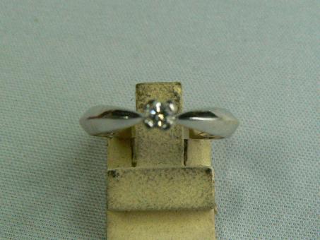 Damen-Ring: Weiß-Gold, 3 Gramm / Brilliant, 0,02