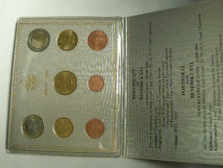 Vatican KMS-Set 2006 *3,88 Euro Benedikt XVI. ''