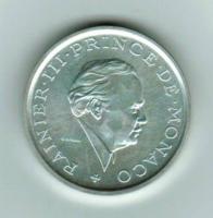 2 Francs 1982 Silber-Piedfort, Y*157, Rainier III., Fürst von Monaco, glatter Rand (250 Exemplare)