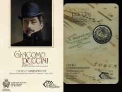 San Marino: 2 Euro 2014, Giacomo Puccini, in OVP