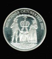 Deutschland/Bayern: Oktoberfest 2002, Trachtenpaar + Rautenwappen, 39 g Silber
