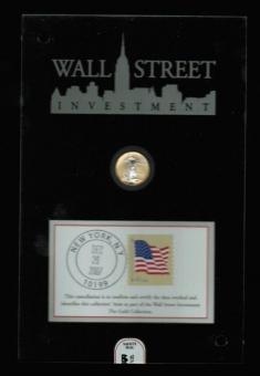 USA: 5 Dollars 2007, Wallstreet Investment Collection aus dem Hause 'Reppa, Walking Liberty/Seeadler, 1/10 Unze, platiniert