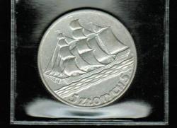 Polen: 5 Zlotych 1936, Y*31, Segelschulschiff 'Dar Pomorza' + 15 Jahre Hafen Gdingen, 11/750 Silber, Nur 1 x auf Lager