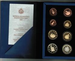 San Marino: Euro-Kursmünzensatz, 2008, Proof, Original in Schachtel