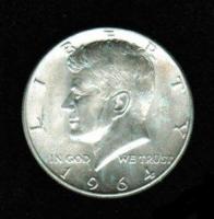 USA: 1/2 US-Dollar 1964, John Fitzgerald Kennedy, Silber